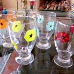 Vidrio--vasos-Folk-art-Enamels
