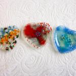 Vidrio- vitrofusion ceniceros corazon