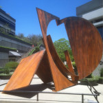 Oxido de hierro escultura